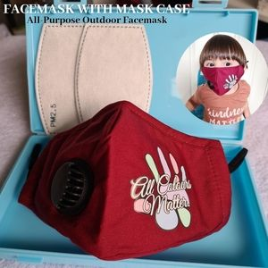 Valves | Personalized Kids 3 Layers Oraganic Polycotton Face Mask with Vent
